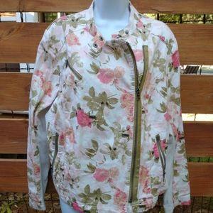 Lane Bryant Floral Moto Jacket sz 20